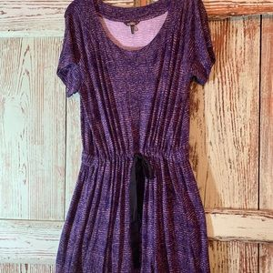 Blueish purple knit tie at waist xl dress  euc.